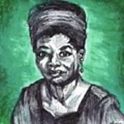 Portrait Of Maya Angelou Art Print
