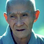 Portrait Of Monk In China Art Print