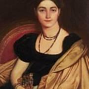 Portrait Of Mrs Devauay Art Print