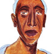 Portrait Of Old Man Art Print