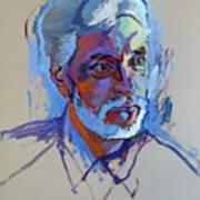 Portrait Of Paulinho - Guitarist-singer - In Progress 2 Art Print