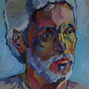 Portrait Of Paulinho - Guitarist-singer In Progress Art Print by Piotr Antonow