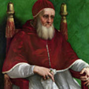 Portrait Of Pope Julius II - 1511 Art Print