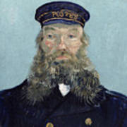 Portrait Of Postman Roulin Print by Vincent van Gogh