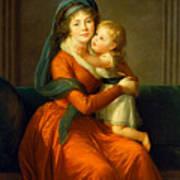 Portrait Of Princess Alexandra Golitsyna And Her Son Piotr Art Print