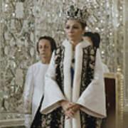 Portrait Of Queen Farah Pahlavi Dressed Art Print