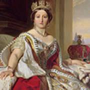 Portrait Of Queen Victoria Art Print