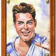 Portrait Of Ricky Martin Art Print