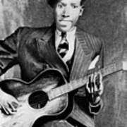 Portrait Of Robert Johnson Art Print