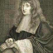 Portrait Of Sir Isaac Newton Art Print