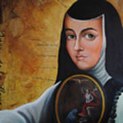 Portrait Of Sor Juana Ines De La Cruz Art Print