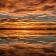 Portrait Of Sunrise Reflections On The Great Plains Art Print