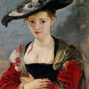 Portrait Of Susanna Lunden Print by Peter Paul Rubens