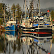 Portrait Of The Ucluelet Trawlers Art Print