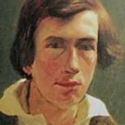 portrait of the young Arnold Bocklin Art Print