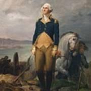 Portrait Of Washington Art Print