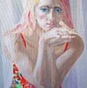 Portrait Of Young Lady Art Print