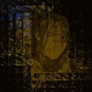 Portrait Reflection From Fresnel Prisms Art Print