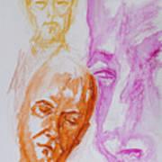 Portraits In 3b Art Print