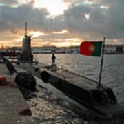 Portuguese Navy Submarine Art Print