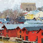 Porvoo Town Art Print