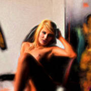 Posing And Art Art Print