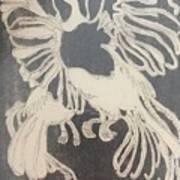 Positive Negative Birds  Art Print