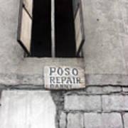 Poso Repair Art Print