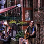 Post Alley Musician Art Print