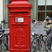 Post Box In Bruge Art Print