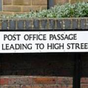 Post Office Passage In Hastings Art Print