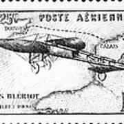 Postage Stamp: Bleriot Art Print