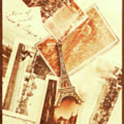 Postcards And Letters From The City Of Love Art Print