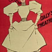 Poster Advertising A Gaiety Girl At The Dalys Theatre In Great Britain Art Print