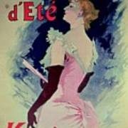 Poster Advertising Alcazar Dete Starring Kanjarowa  Art Print