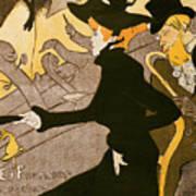 Poster Advertising Le Divan Japonais Art Print by Henri de Toulouse Lautrec