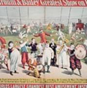 Poster Advertising The Barnum And Bailey Greatest Show On Earth Art Print