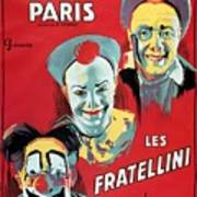 Poster Advertising The Fratellini Clowns Art Print