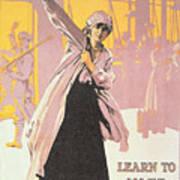 Poster Depicting Women Making Munitions  Art Print by English School