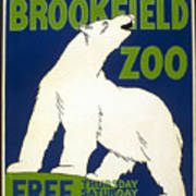 Poster For The Brookfield Zoo Art Print
