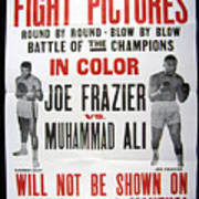 Poster For The First Joe Frazier Vs Art Print by Everett