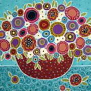 Pot Of Bloomers Art Print