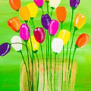 Pot O'tulips Art Print