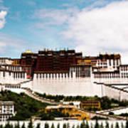 Potala Palace Dalai Lama Home Place. Tibet Kailash Yantra.lv 2016  Art Print