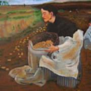 Potatoe Pickers Art Print