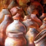 Pots In Morocco Art Print