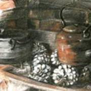 Pots Of A Fireplace Art Print