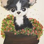 Potted Pup Art Print