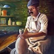 Potter At Work Art Print