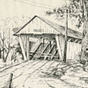 Potter's Covered Bridge Art Print